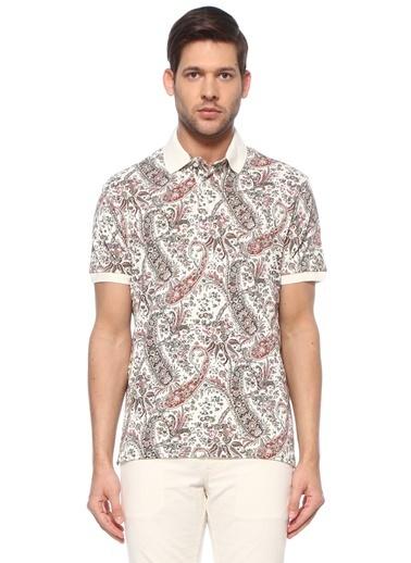 Etro Etro Colorblocked Şal Desenli Polo Yaka T-shirt 101618019 Renkli